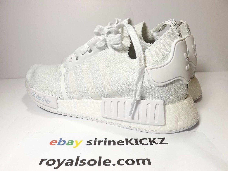 Image of Adidas NMD R1 PK Primeknit Triple White BA8630