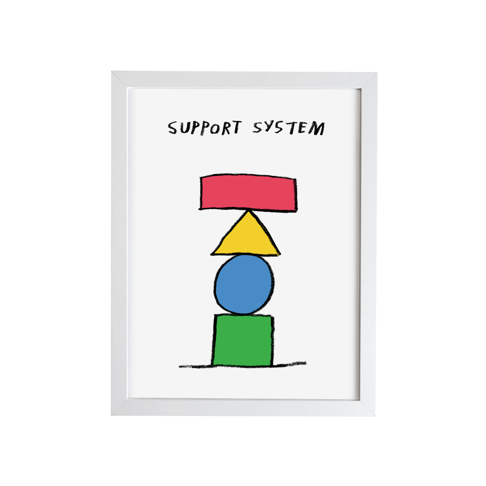 Image of Support System Print