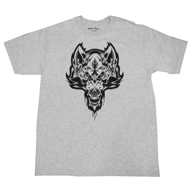 Image of Skrap Pack Hydro74 Wolf Tee (Grey/Black)