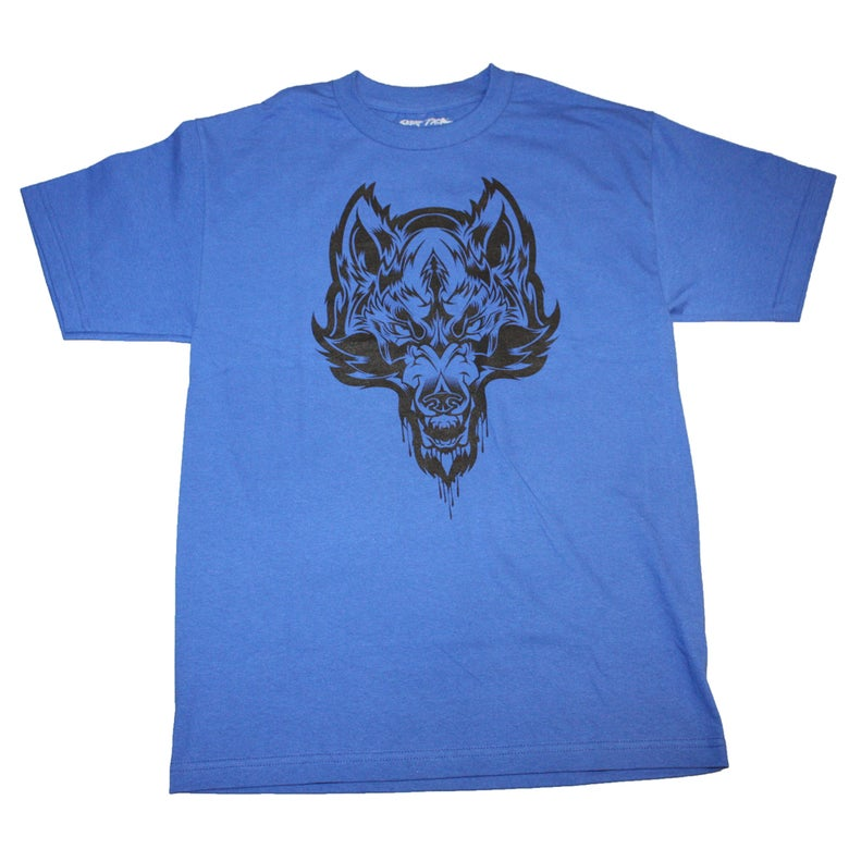 Image of Skrap Pack Hydro74 Wolf Tee (Blue/Black)