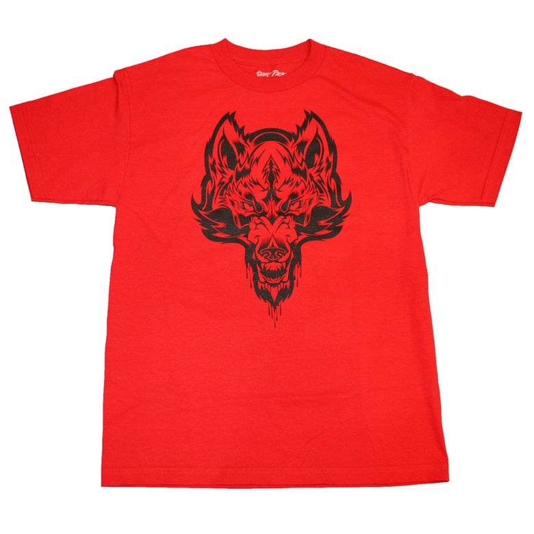Image of Skrap Pack Hydro74 Wolf Tee (Red/Black)
