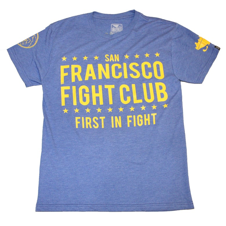 Image of Bad Boy x Skrap Pack San Francisco Fight Club Tee (Blue/Yellow)