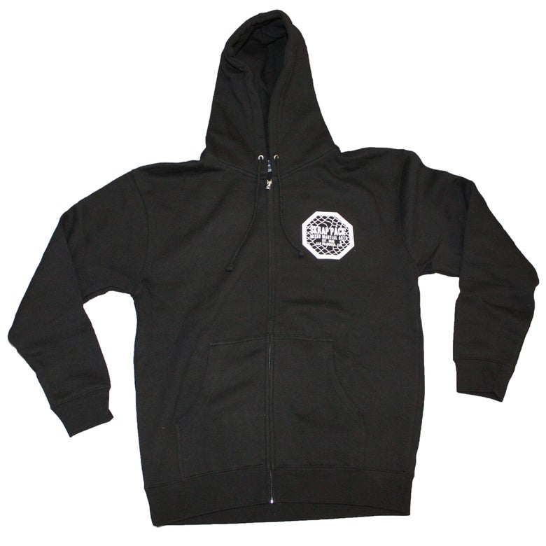 Image of Skrap Pack Octagon Hoodie (Black/White)