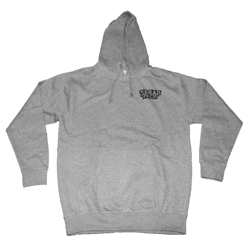 Image of Skrap Pack Hydro74 Wolf Pullover Hoodie (Grey/Black)