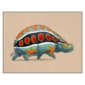 "Image of ""Polychromatic Hippo"" Print"
