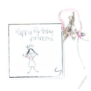 Image of Bursdagskort jente /prinsesse
