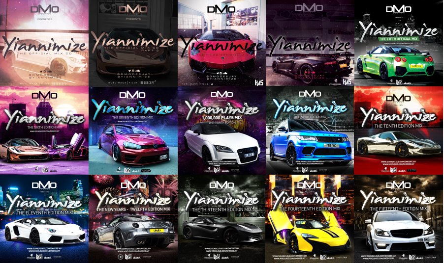 Image of Yiannimize Mix 1 - 28 Full *LIMITED* CD Pack Bundle  *Special Offer*