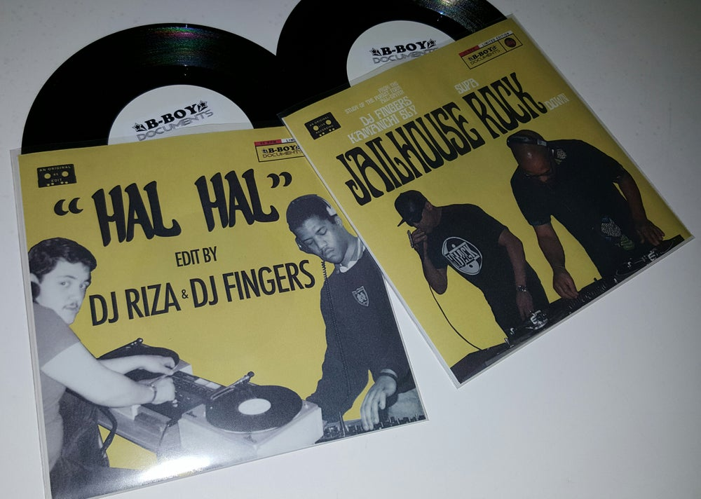 Image of 'Jailhouse (supa) Rock (down)'  /  'Hal, Hal' limited edition 45