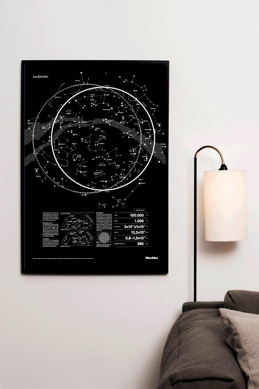 Image of Las Estrellas · 50x70cm · Black