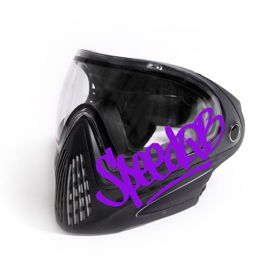 Image of SpeedQB Handstyle Decal - Purple
