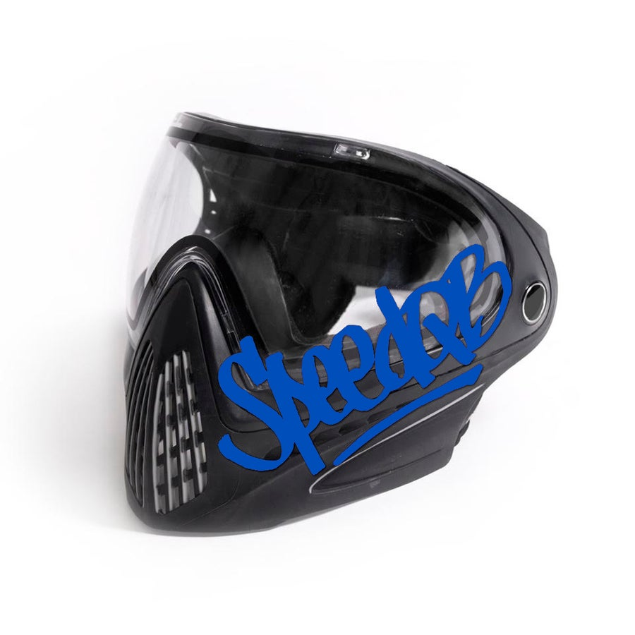 Image of SpeedQB Handstyle Decal - Blue