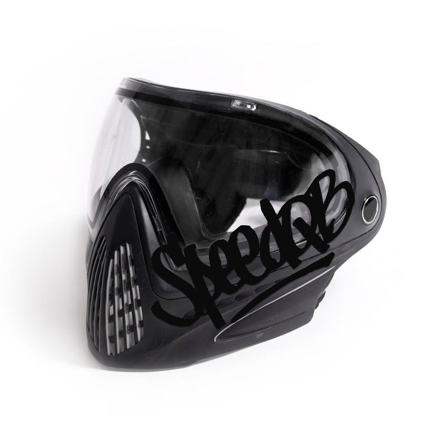 Image of SpeedQB Handstyle Decal - Black