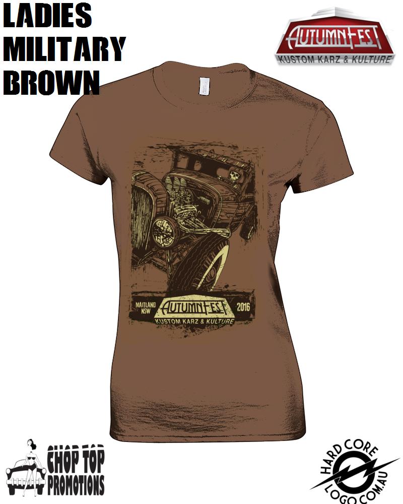 Image of Ltd Edition David Lozeau Ladies T-Shirt Military Brown