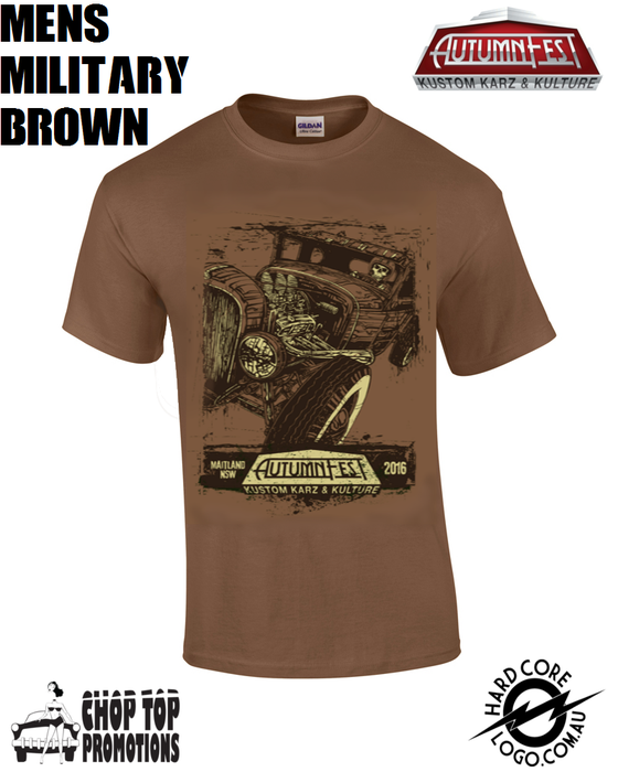 Image of Ltd Edition David Lozeau Men's T-Shirt Military Brown