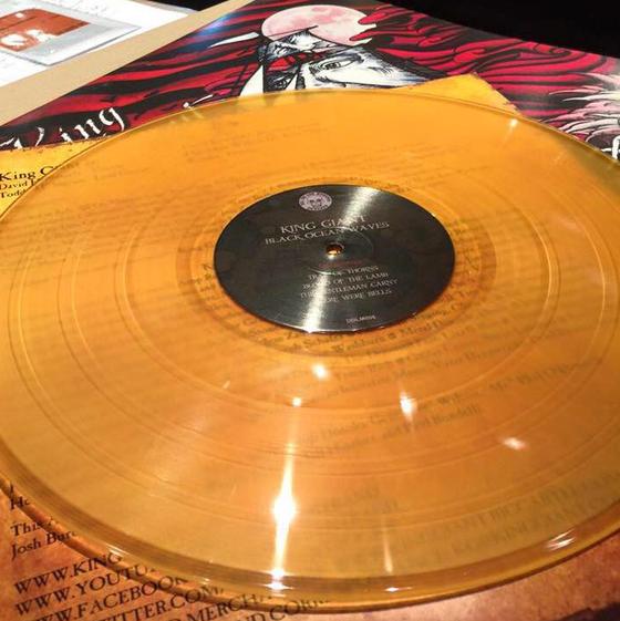 Image of Black Ocean Waves LP - BEER color