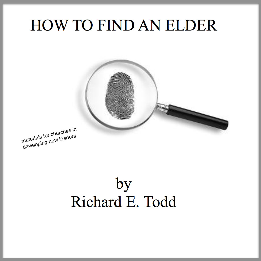 Image of How to Find an Elder (resource materials)