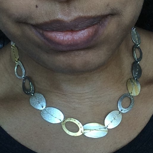 Image of One of a kind Sewn Up necklace