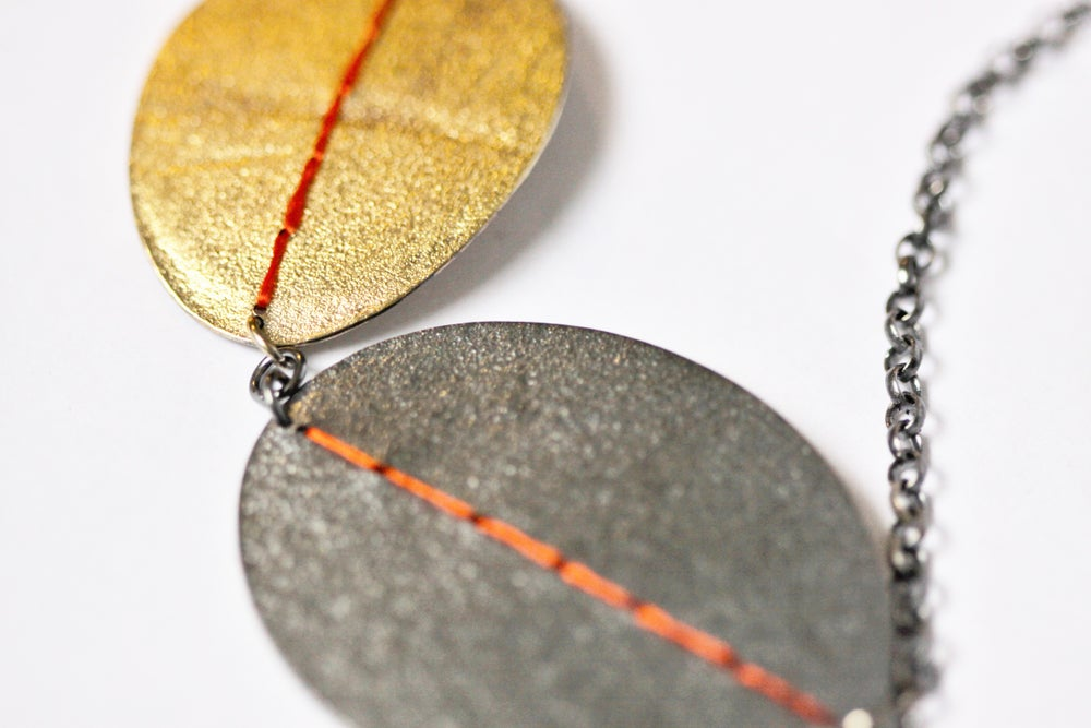 Image of 'Big Double' Sewn Up necklace