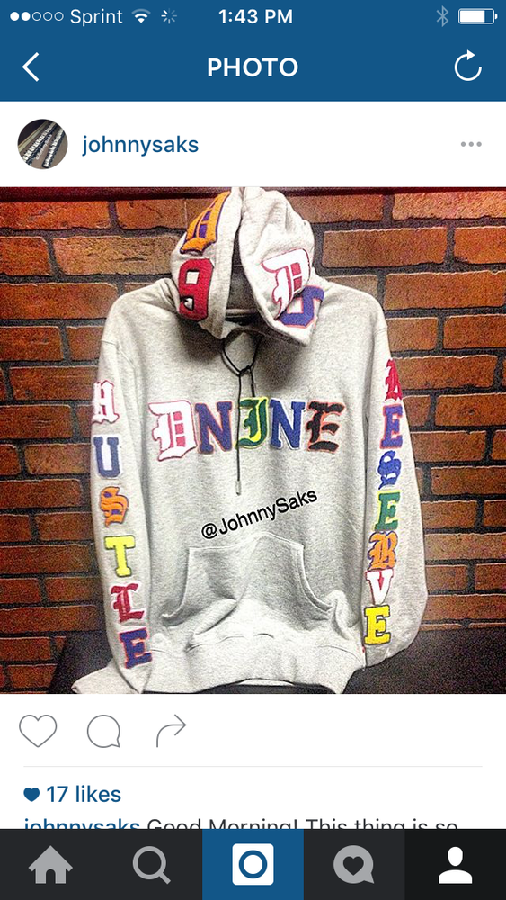 "Image of DNine HUSTLE RSRV Hoody ""Grey"""