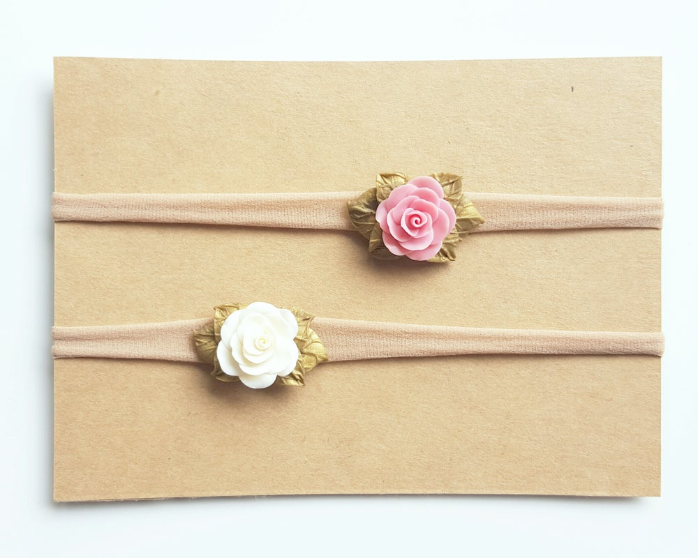 Image of Golden Blush and Cream Floret Set
