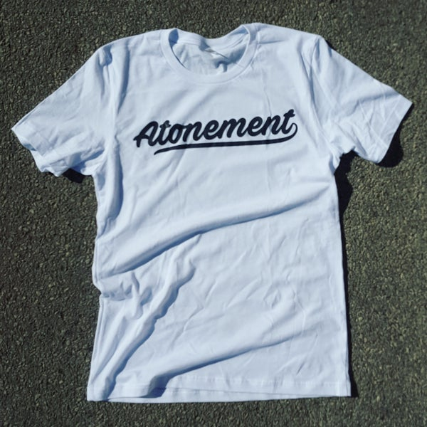 "Image of The ""Atonement Script"" Tee in White"