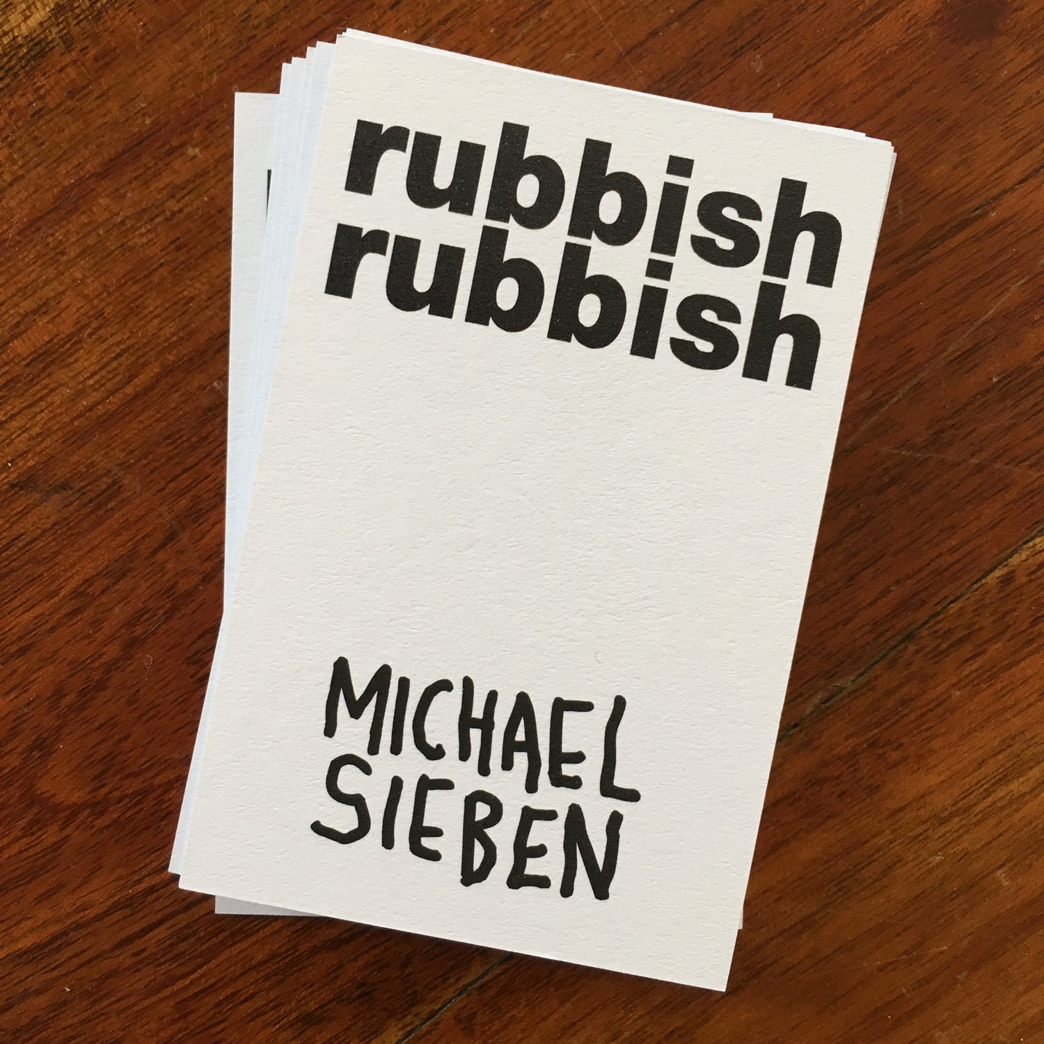 Image of Rubbish Rubbish 25 Michael Sieben
