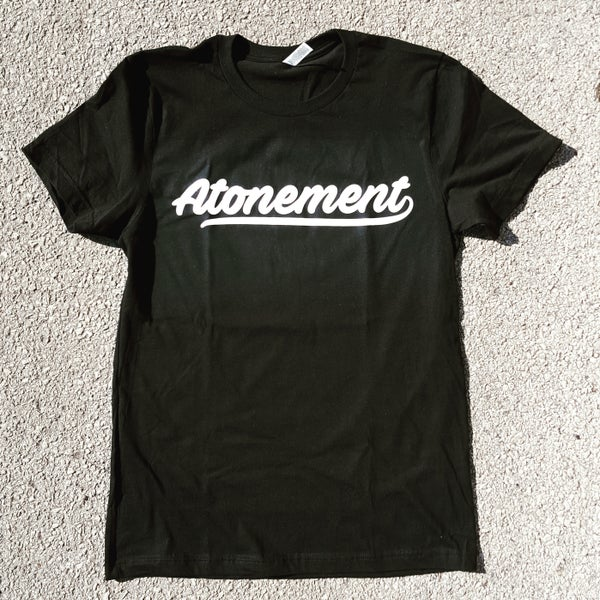 "Image of The ""Atonement Script"" Tee in Black"