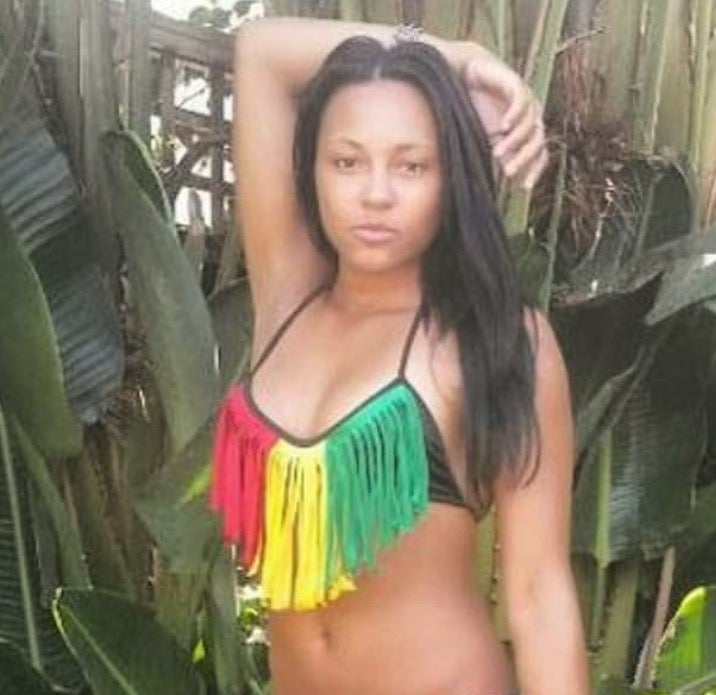 Image of Rasta Fringe Bikini Top and Bottom