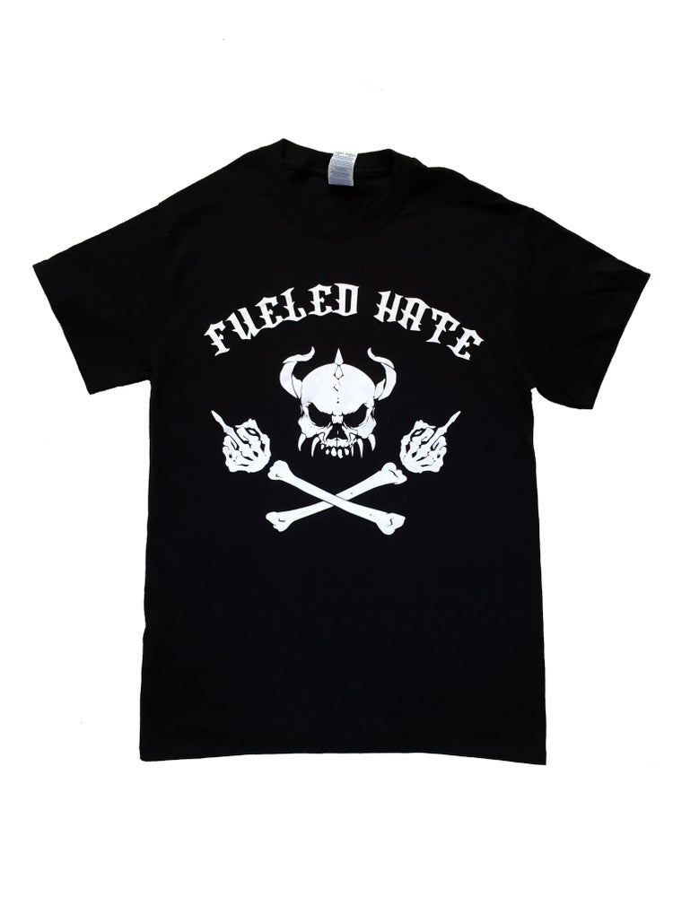 Image of Fueled Hate Logo Skull Tshirt