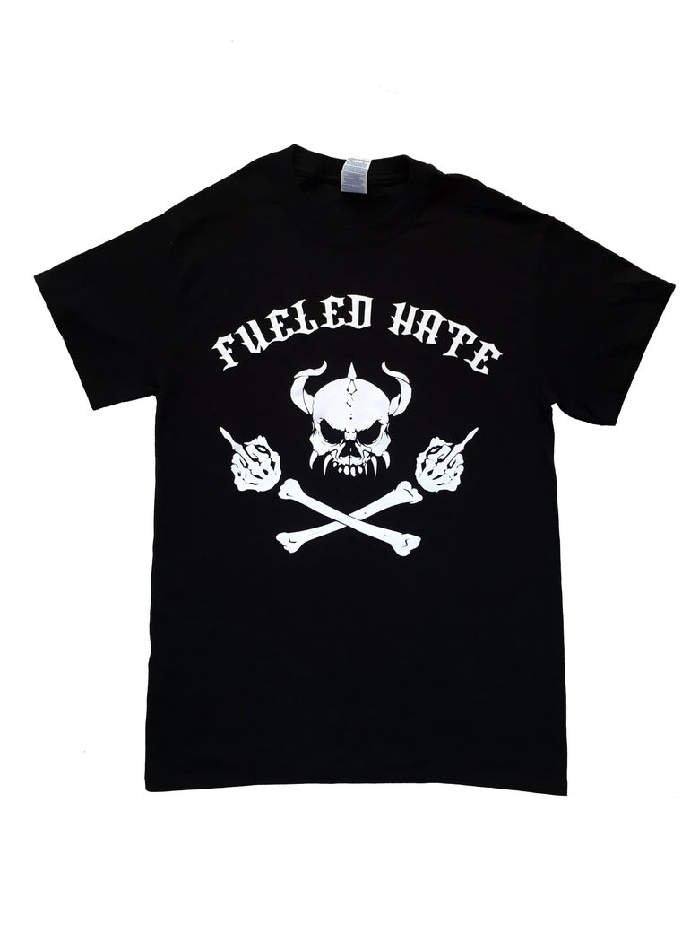 Image of Fueled Hate Logo Skull Tshirt Men