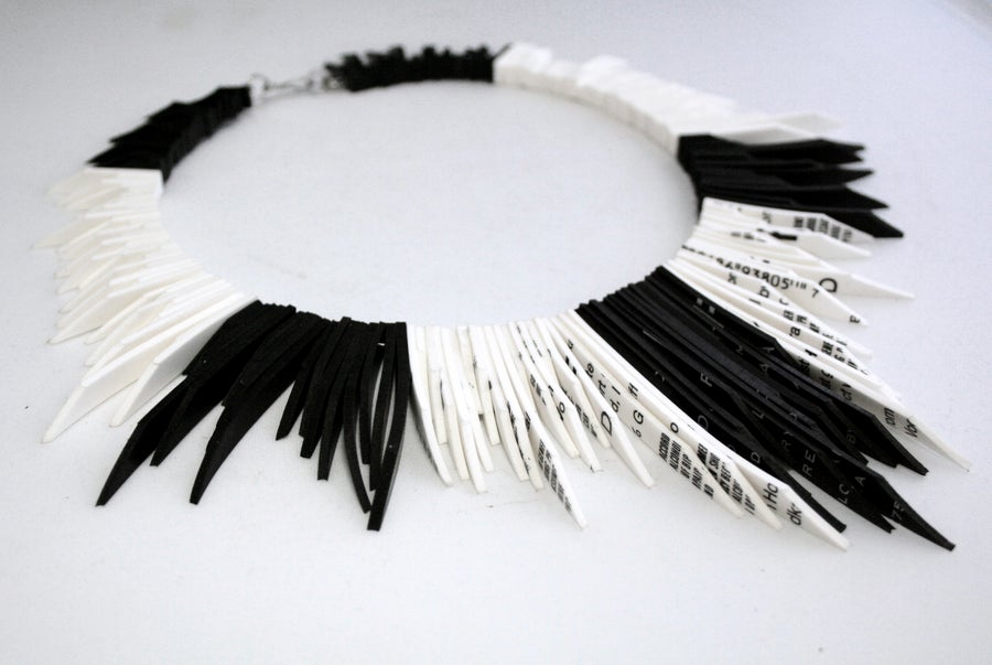 Image of Spirit - Black & White Rubber Necklace