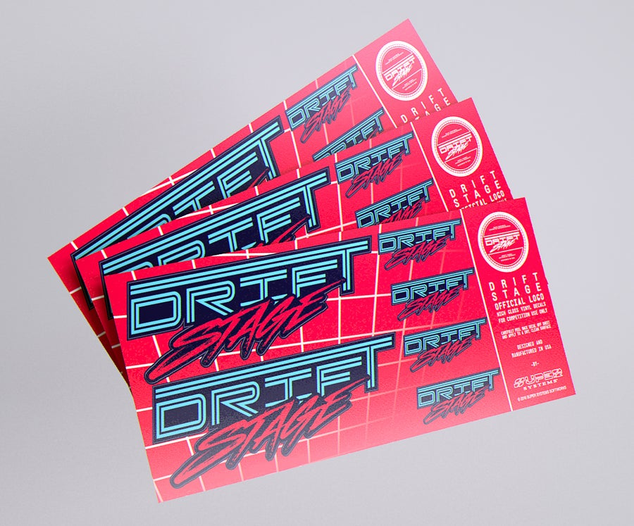 Image of 「Drift Stage Official Logo Sticker Sheet」