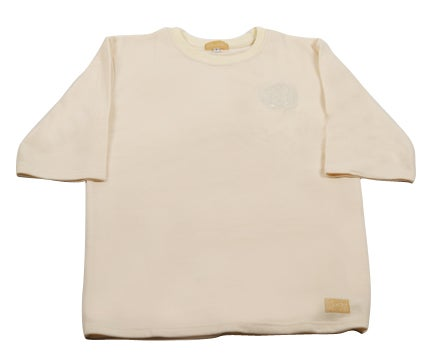 "Image of Cream Elongated Tee 3/4"" Sleeves"
