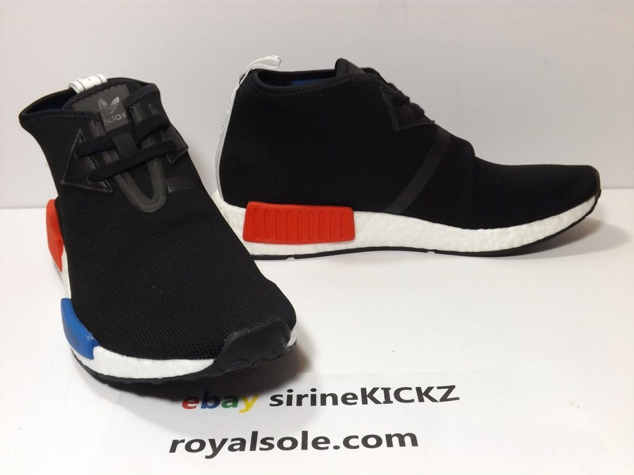 Image of Adidas NMD C1 Chukka Core Black Red Lush Blue S79148