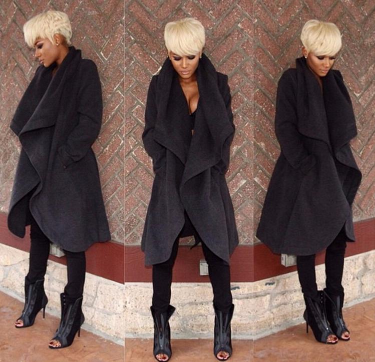 Image of Fashion sexy cape fur coat