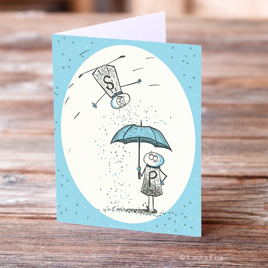 Image of Salt and Pepper Love Greeting Card