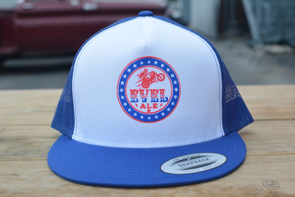 Image of Evel Hat - Red and Blue Available