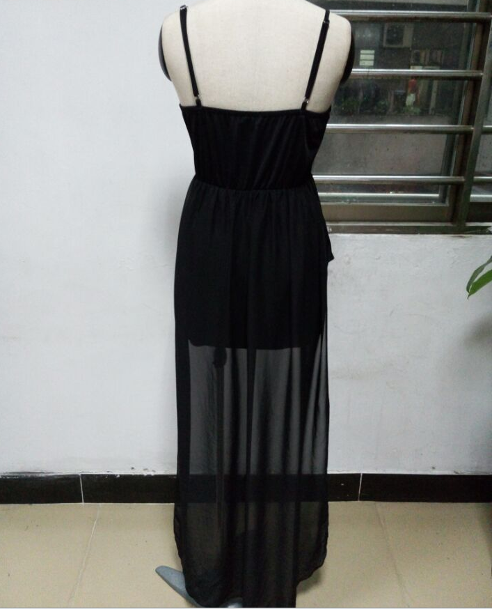 Image of Fashion sexy v-neck wrapped chest waist dress
