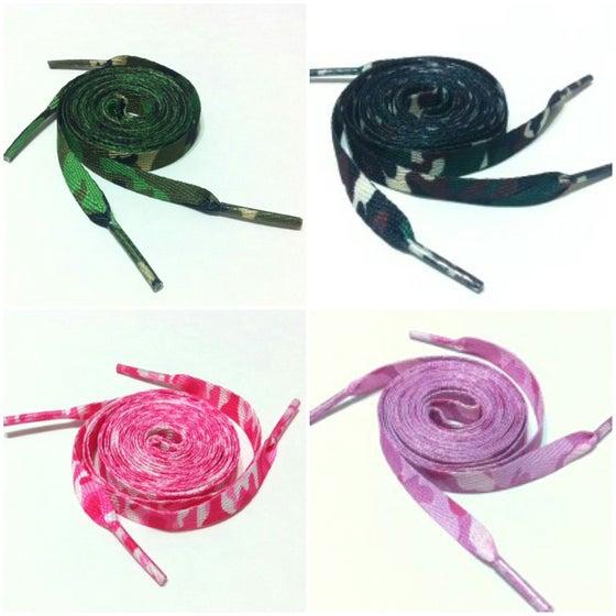 "Image of Exclusive ""Camo"" Custom Laces"