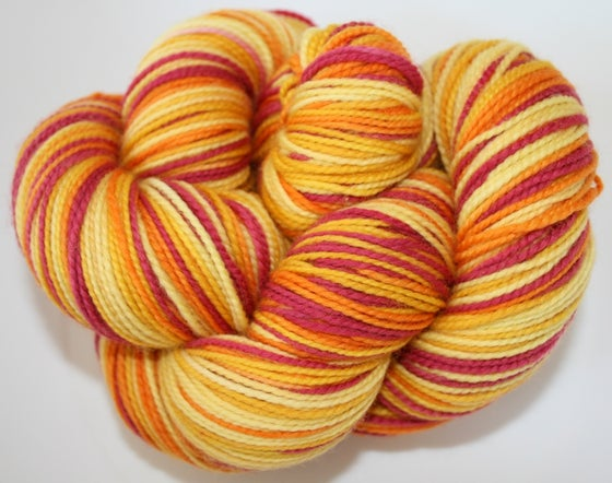 Image of Sunrise: Superwash Strong Heart Self Striping Sock Yarn