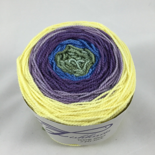 Image of Russian Sage: Full Gradient on Warm Heart Sock Yarn