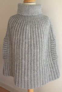 Image of Isabella and Mary Poncho in english terms, crochet pattern