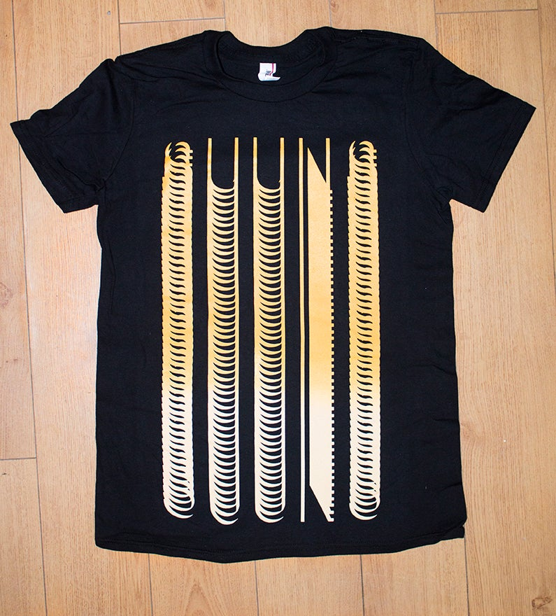 Image of T-SHIRT (black & gold SUUNS)
