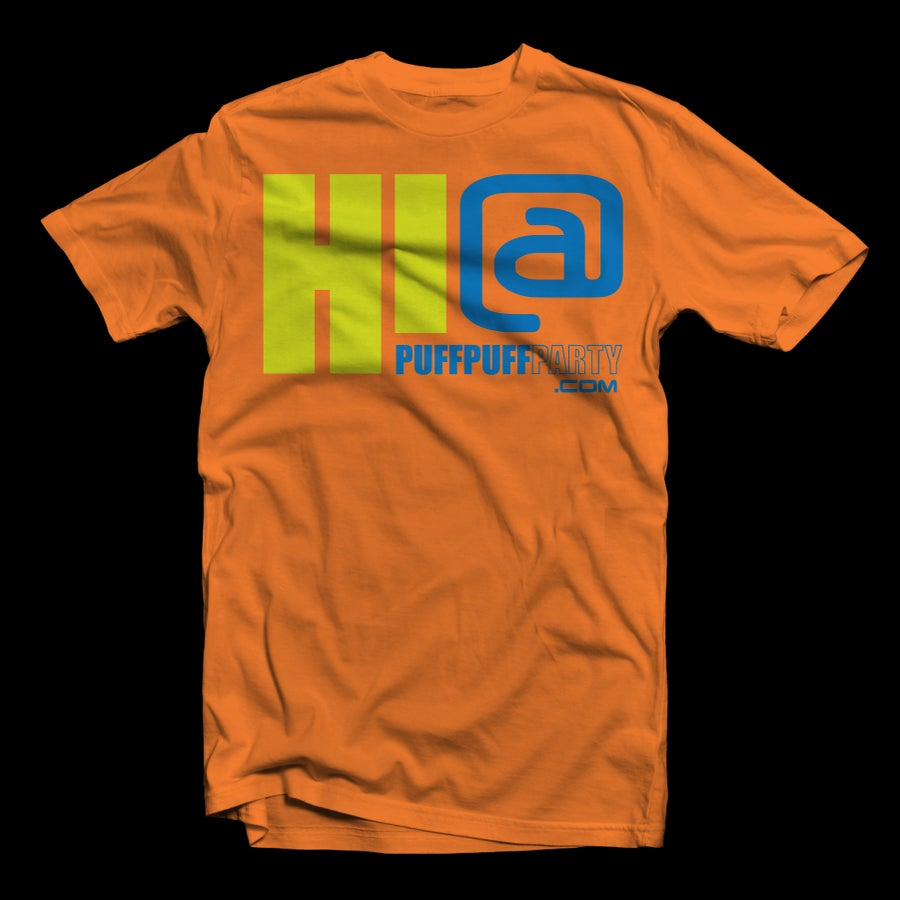 Image of {ORANGE} HI! at Puffpuffparty Tee