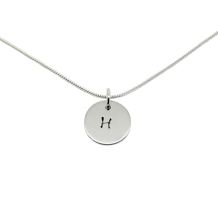 Image of Personalised Initial sterling silver circle necklace