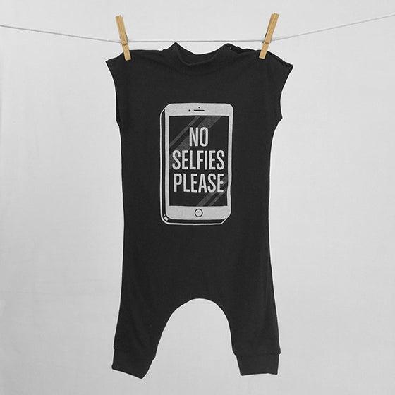"""Image of """"No Selfies Please"""" Black Bodysuit"""