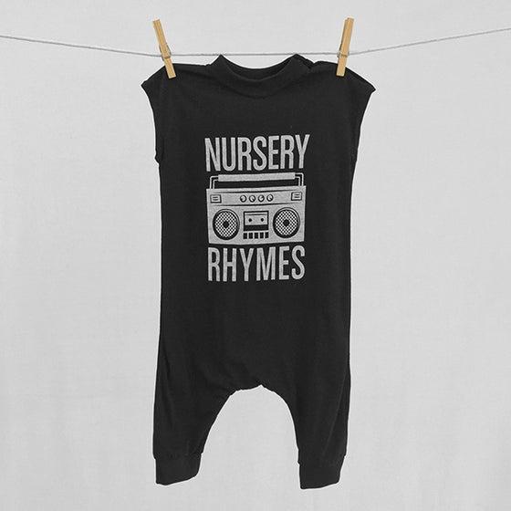 """Image of """"Nursery Rhymes"""" Black Bodysuit"""