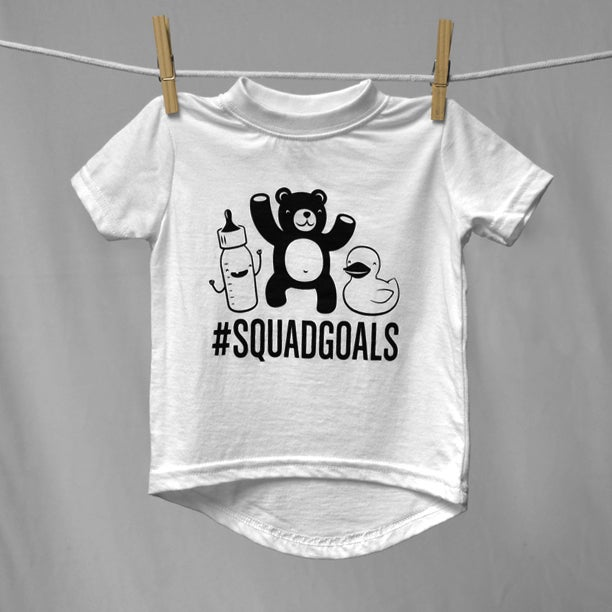 "Image of ""#SquadGoals"" White T-Shirt"