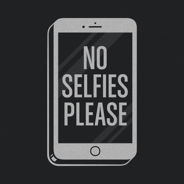 "Image of ""No Selfies Please"" Black Bodysuit"