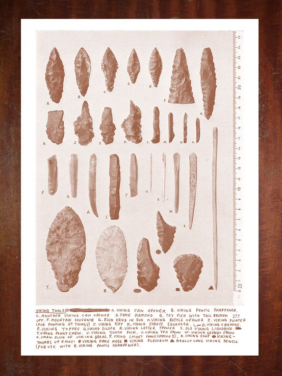 Image of Viking Tools etc - A3 Risograph Print